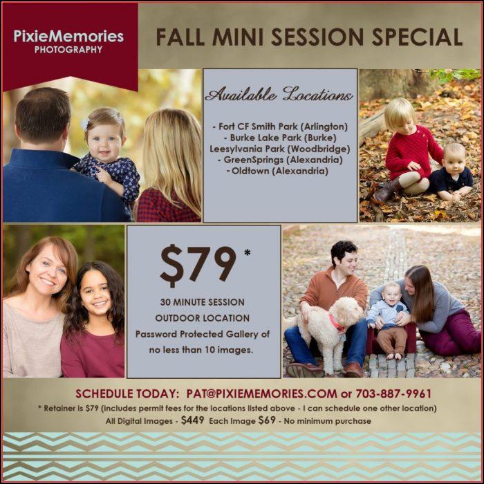 Fall Mini Session Templates Free