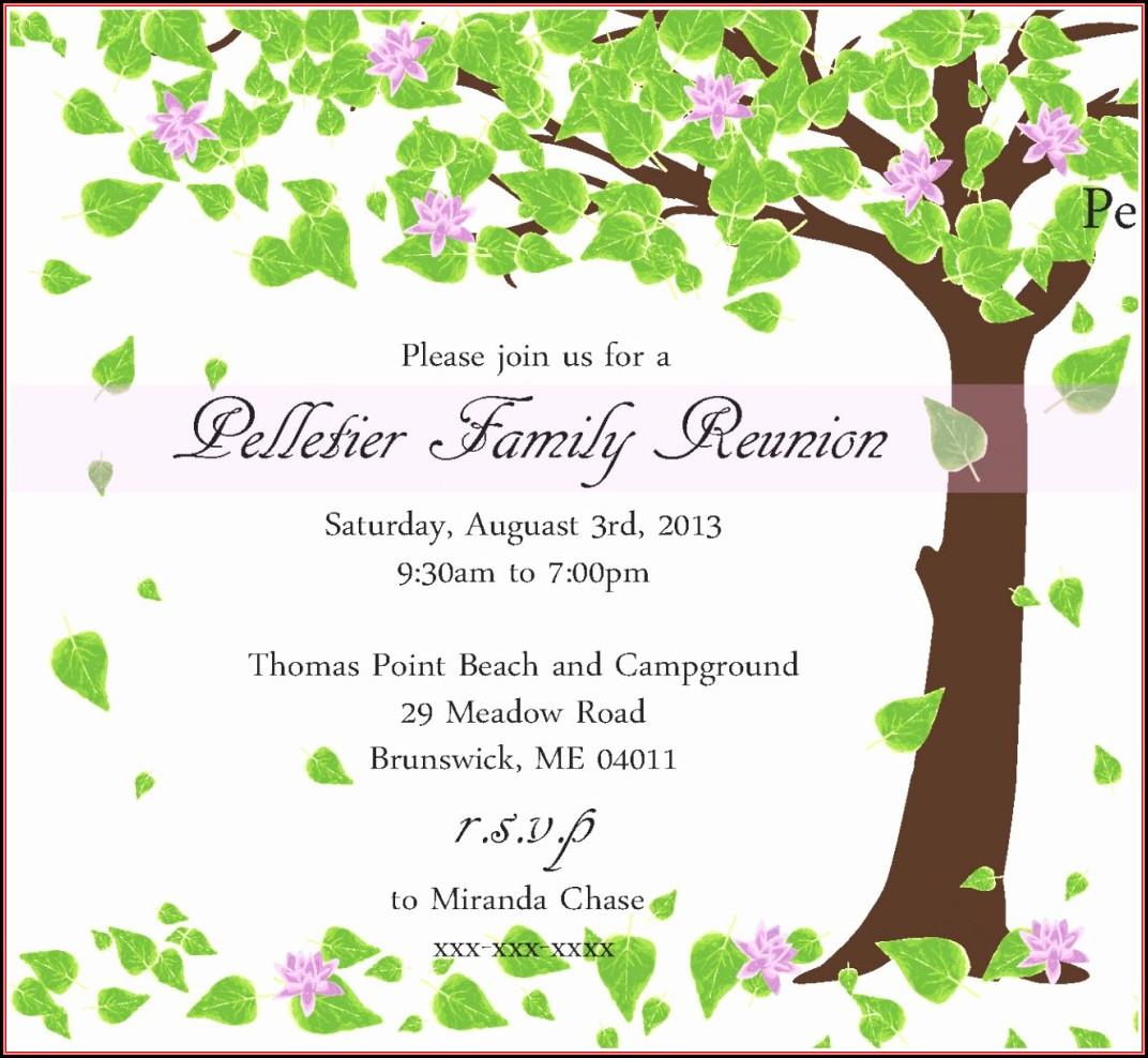 Family Reunion Invitation Card Maker