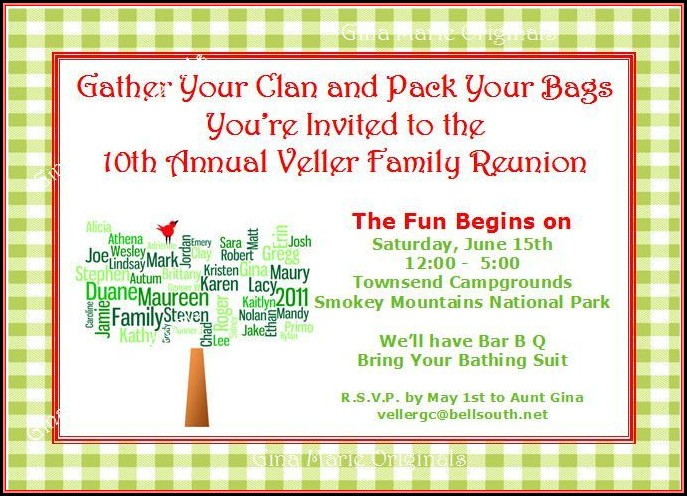 Family Reunion Invitation Letter Template