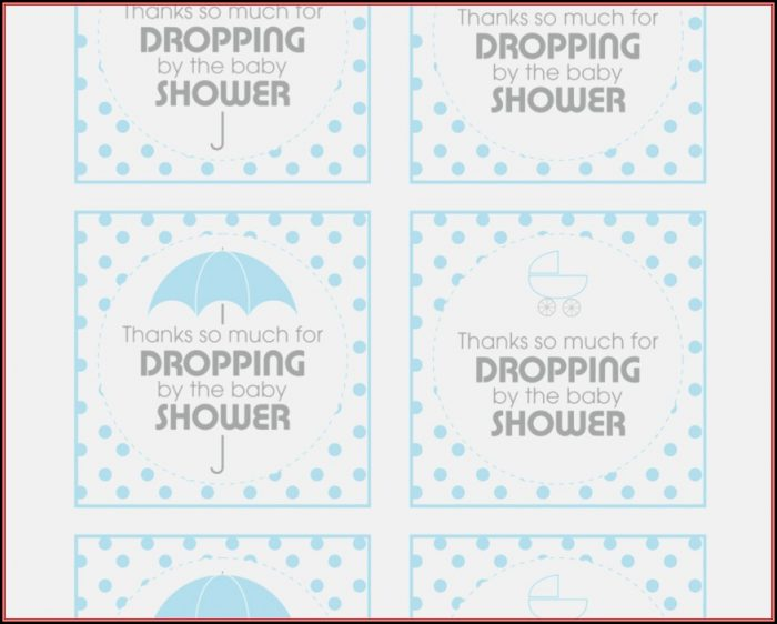 Favor Tags Template Baby Shower