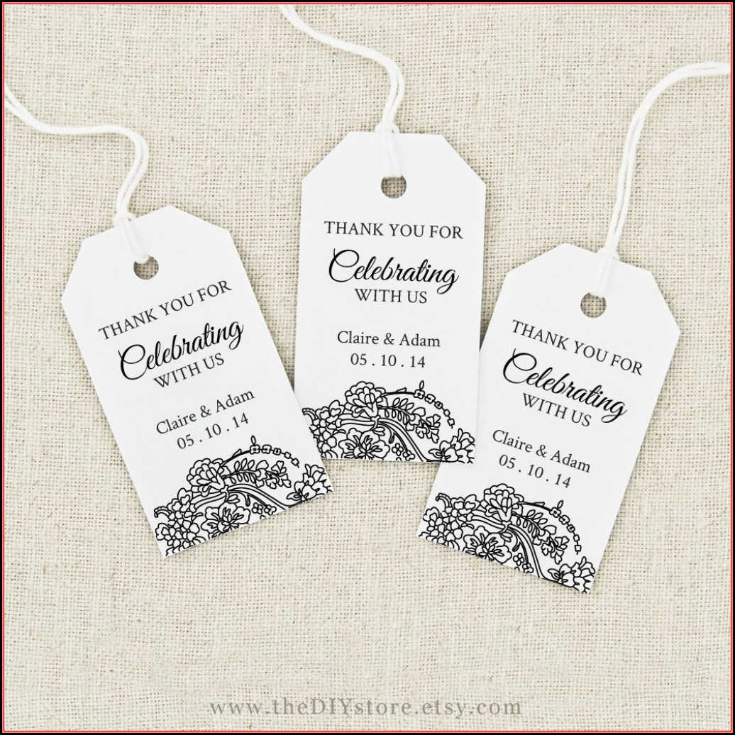 Favor Tags Template For Weddings