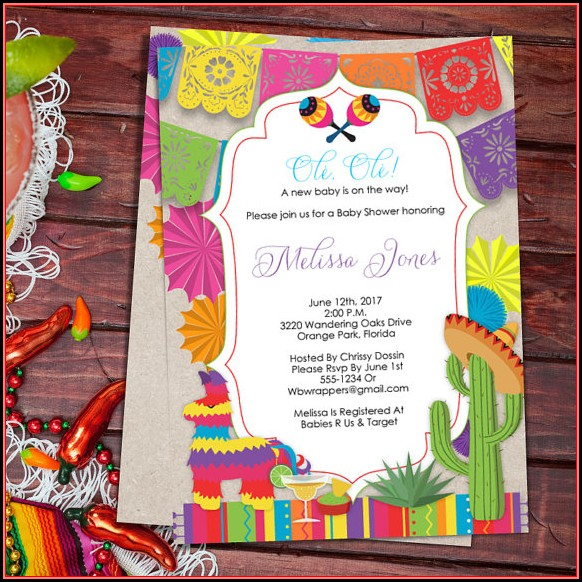 Fiesta Baby Shower Invitation Template