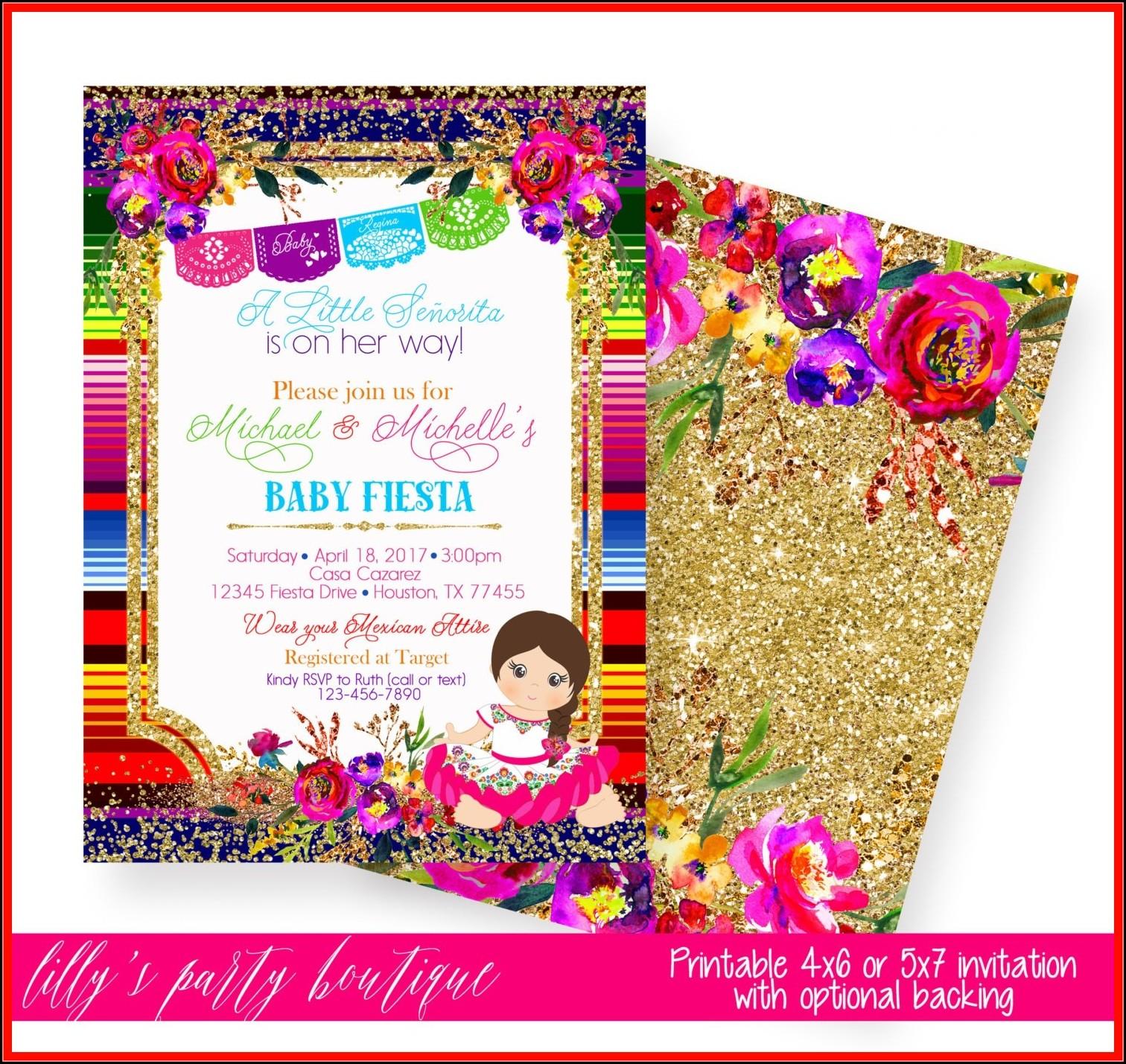 Fiesta Birthday Invitation Template Free
