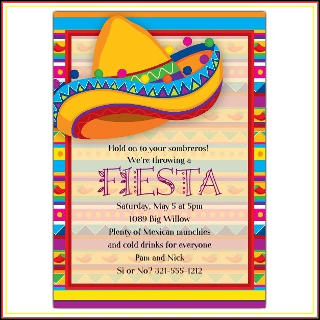 Fiesta Invitation Template Free Download