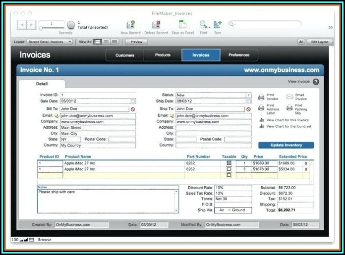 Filemaker Accounting Template Download