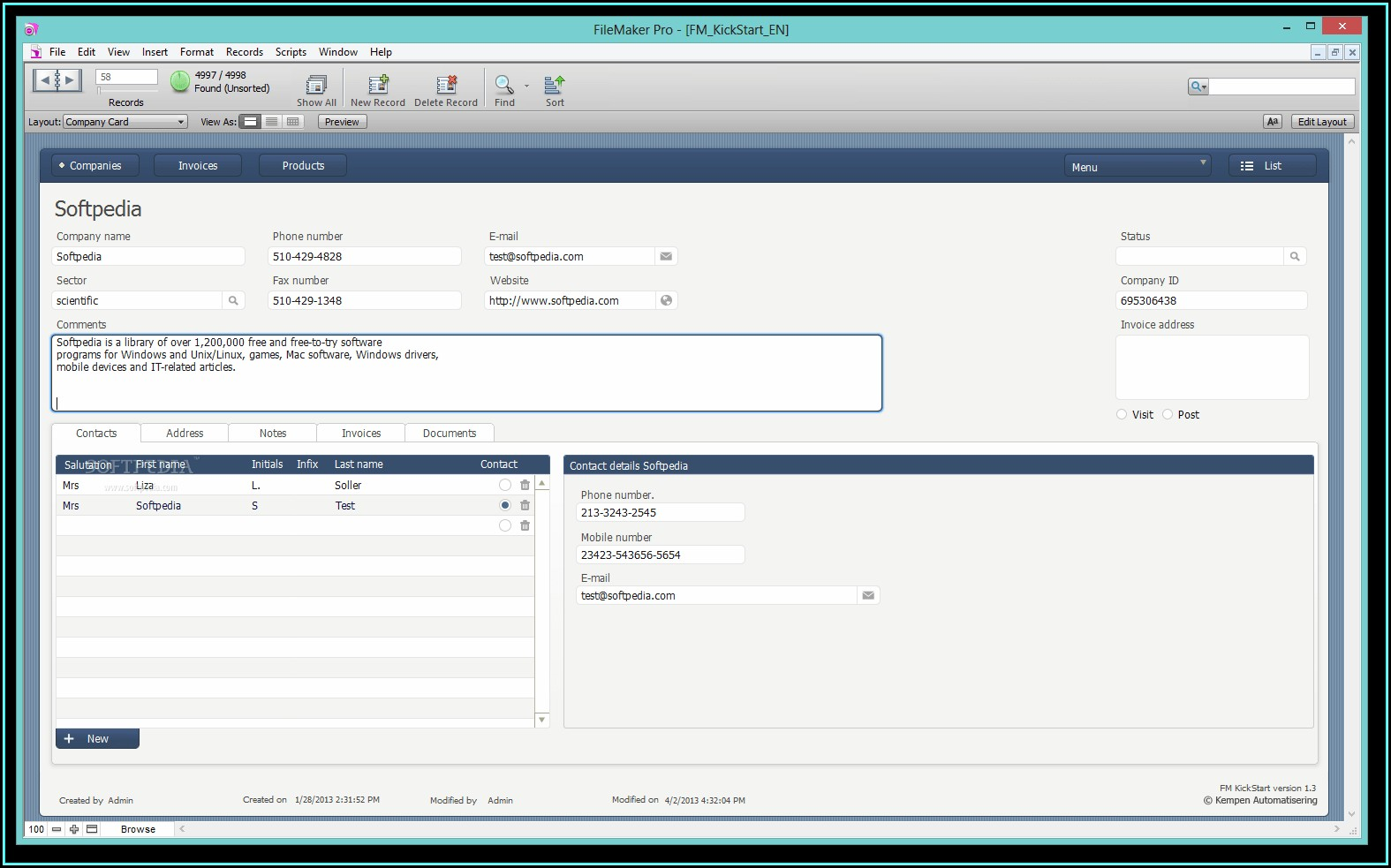 Filemaker Accounts Template