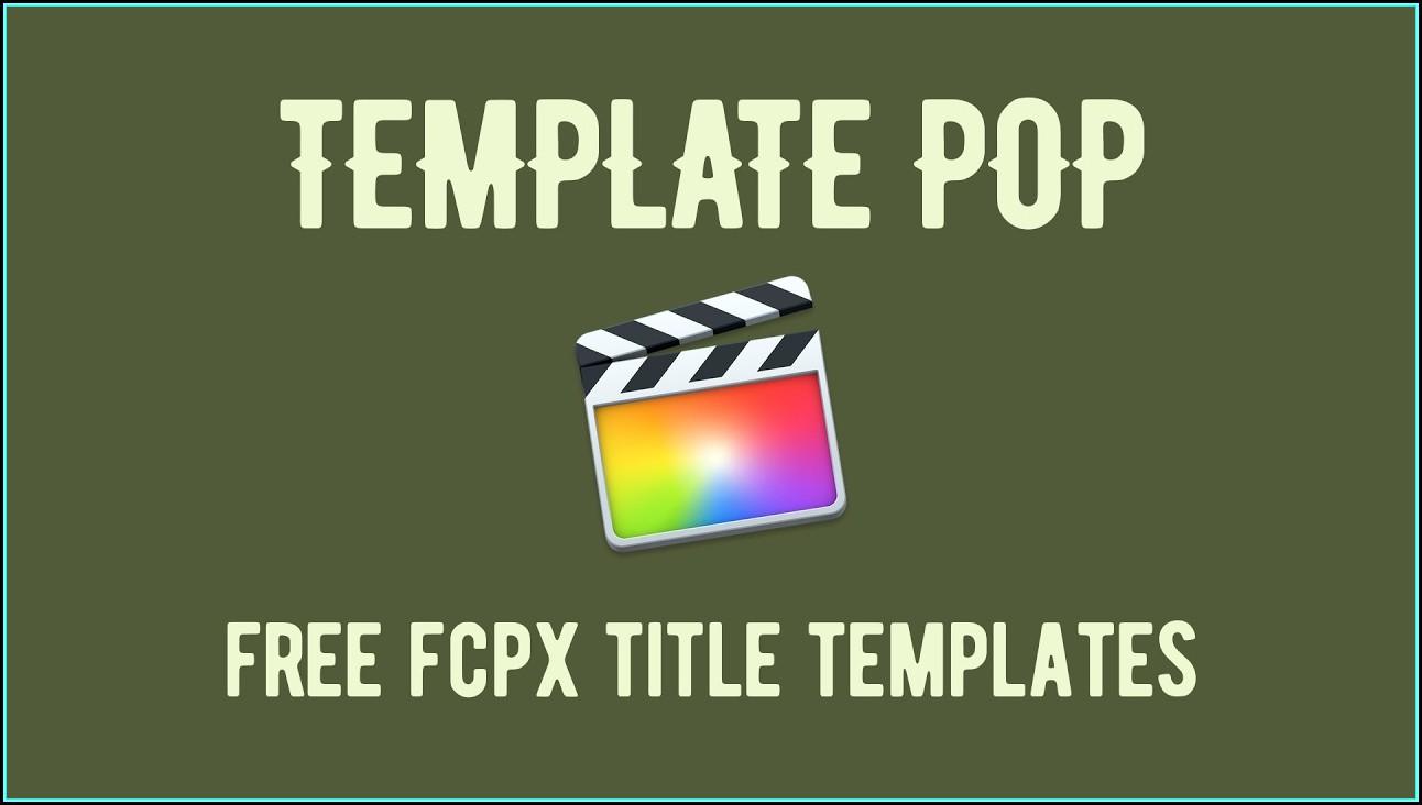 Final Cut Pro X Title Templates