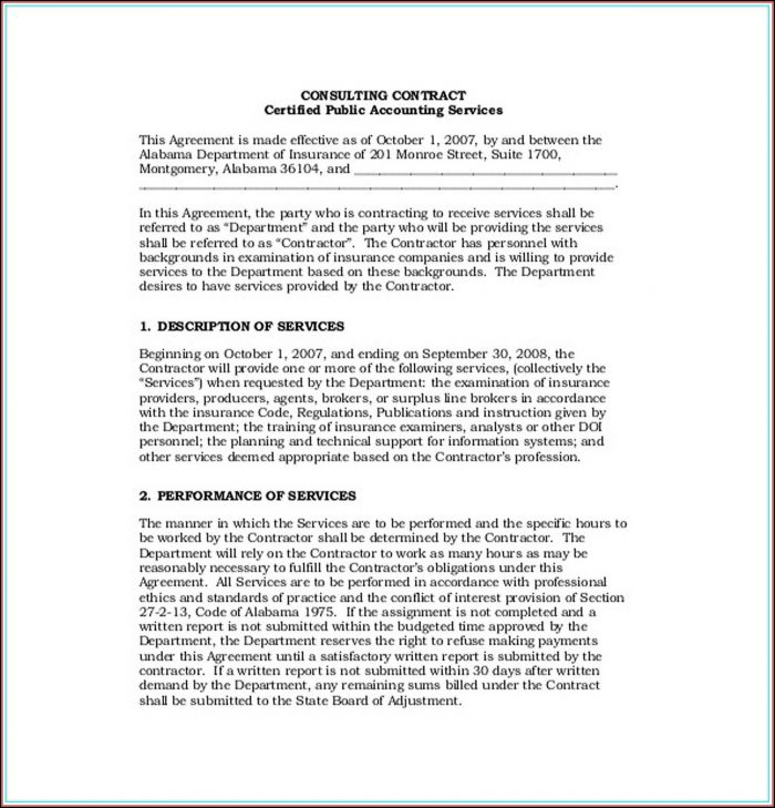 Free Accounting Service Agreement Template