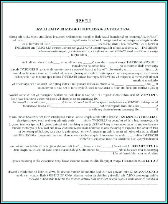 Free Apartment Rental Contract Template