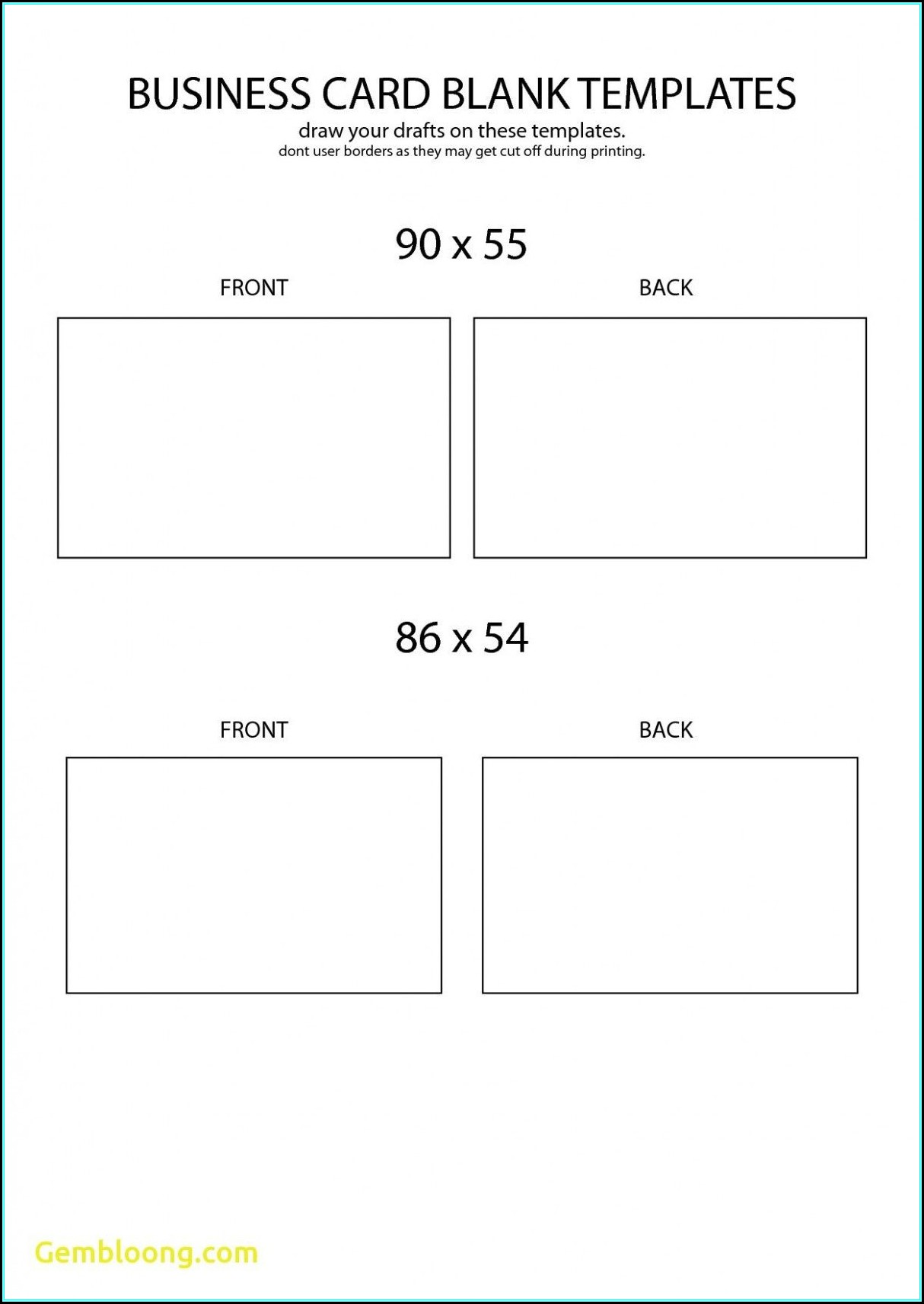 Free Blank Business Card Templates Avery 8371