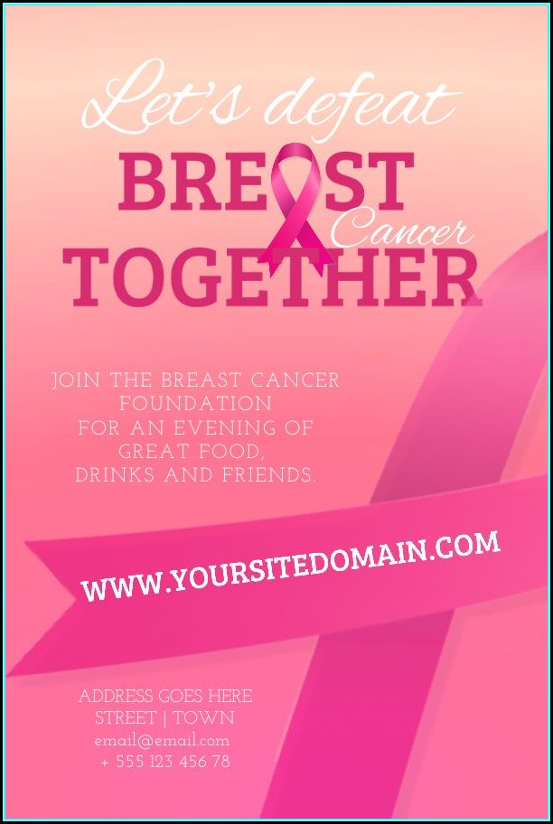 Free Breast Cancer Fundraiser Flyer Templates