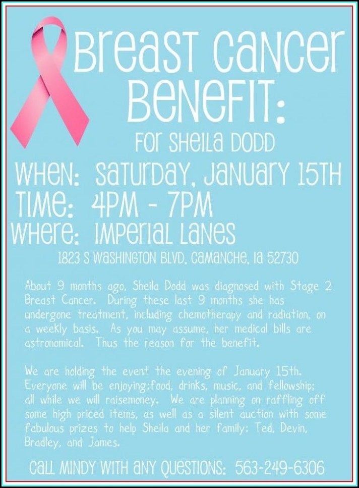 Free Cancer Fundraiser Flyer Templates