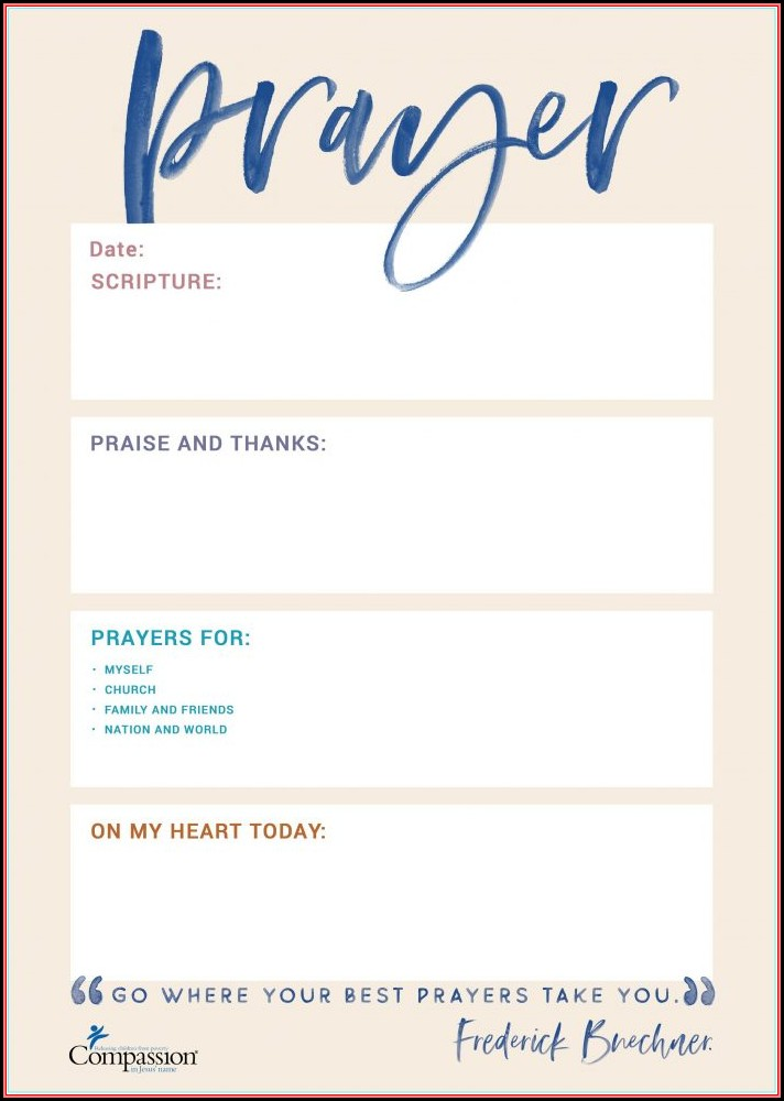 Free Catholic Prayer Card Template
