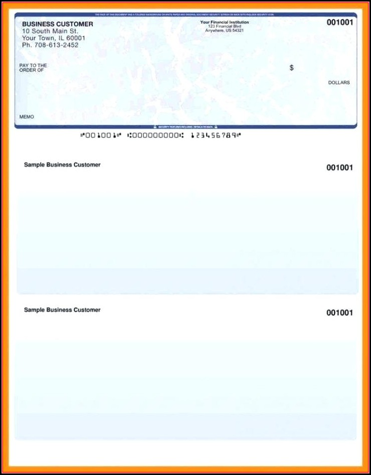Free Check Printing Template Excel