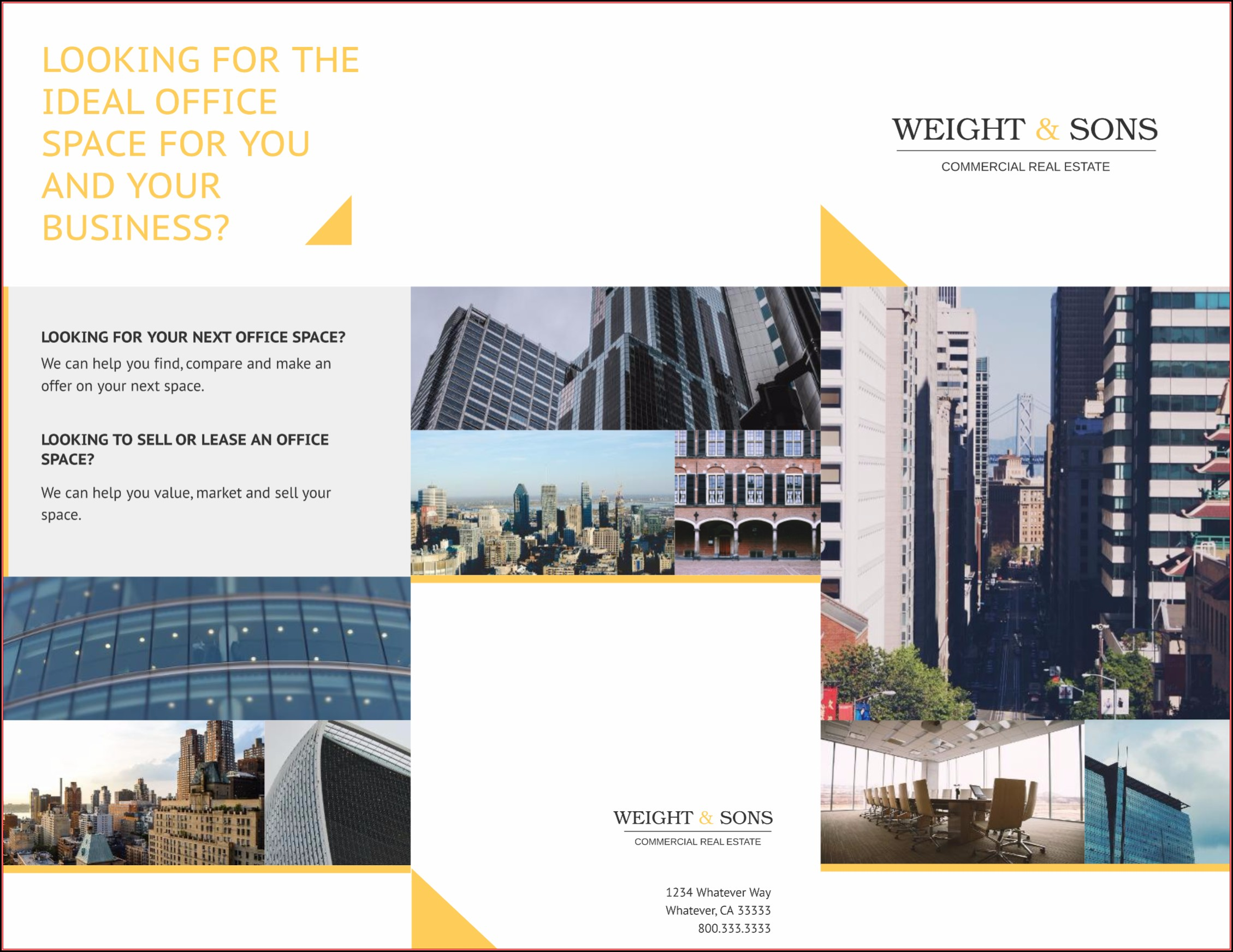 Free Commercial Real Estate Brochure Templates