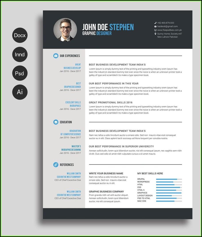 Free Design Resume Template Word