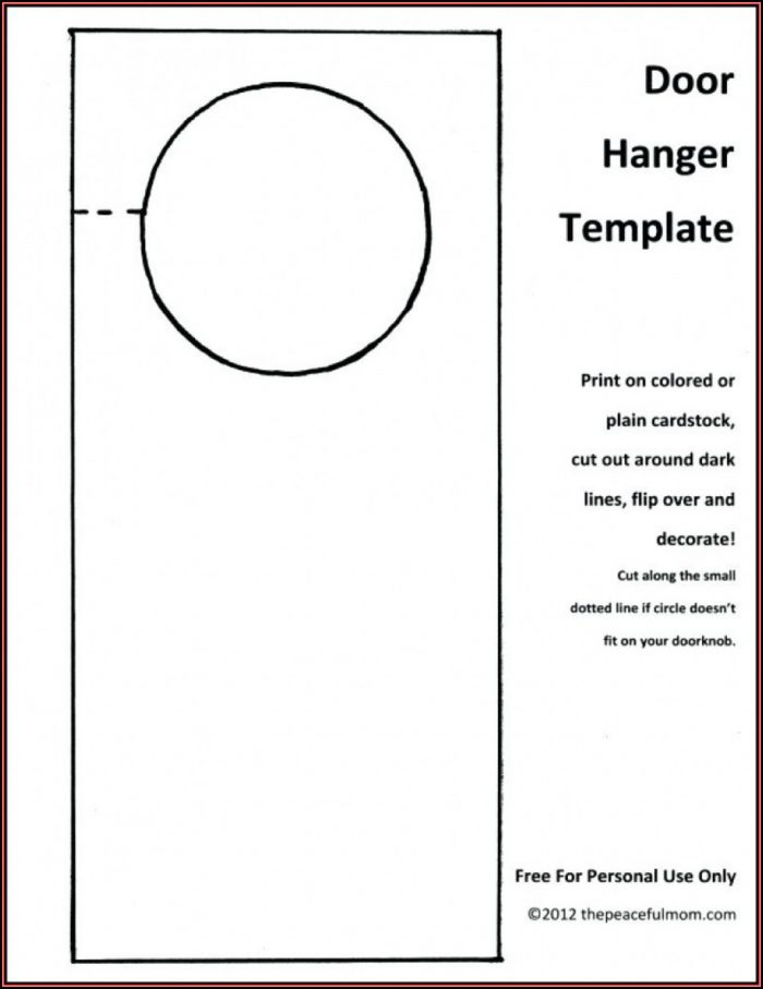 Free Door Hanger Template Illustrator