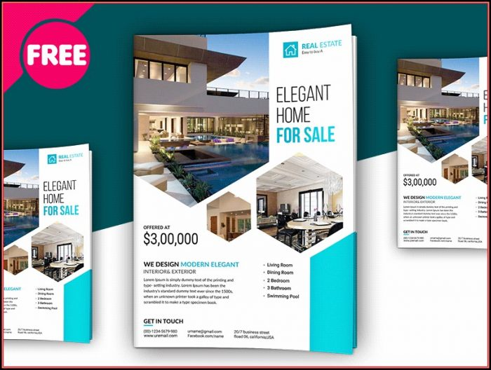 Free Download Real Estate Brochure Template