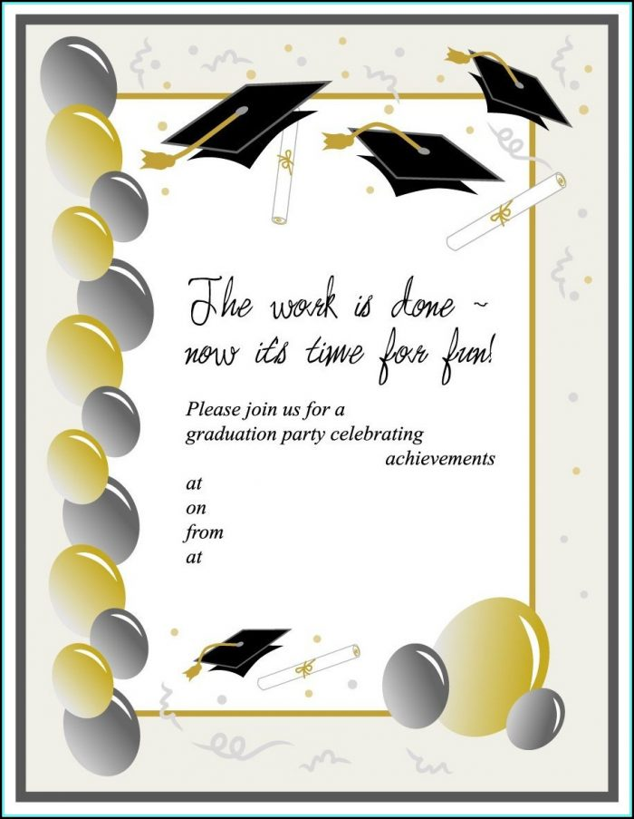 Free Downloadable Graduation Invitation Templates