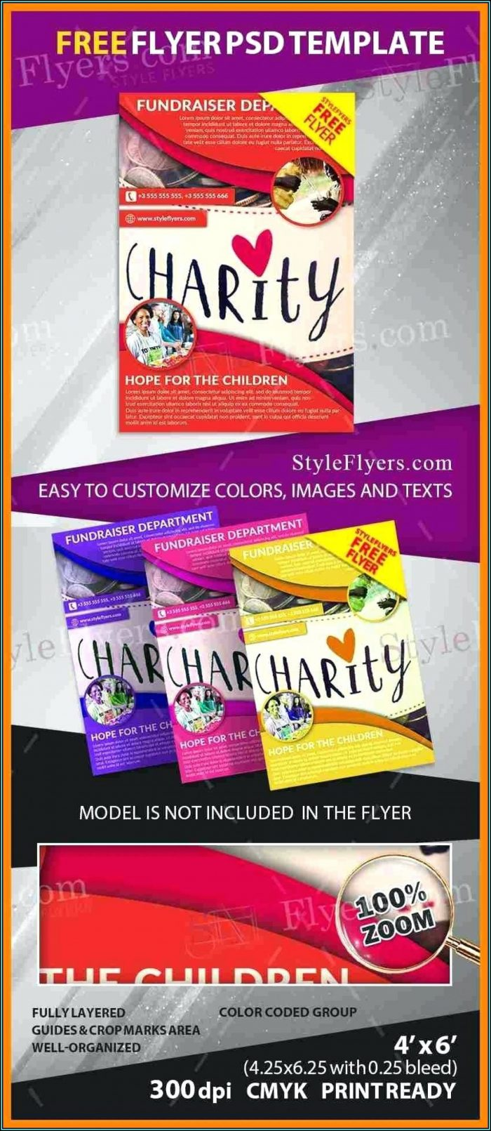 Free Editable Fundraising Flyer Templates