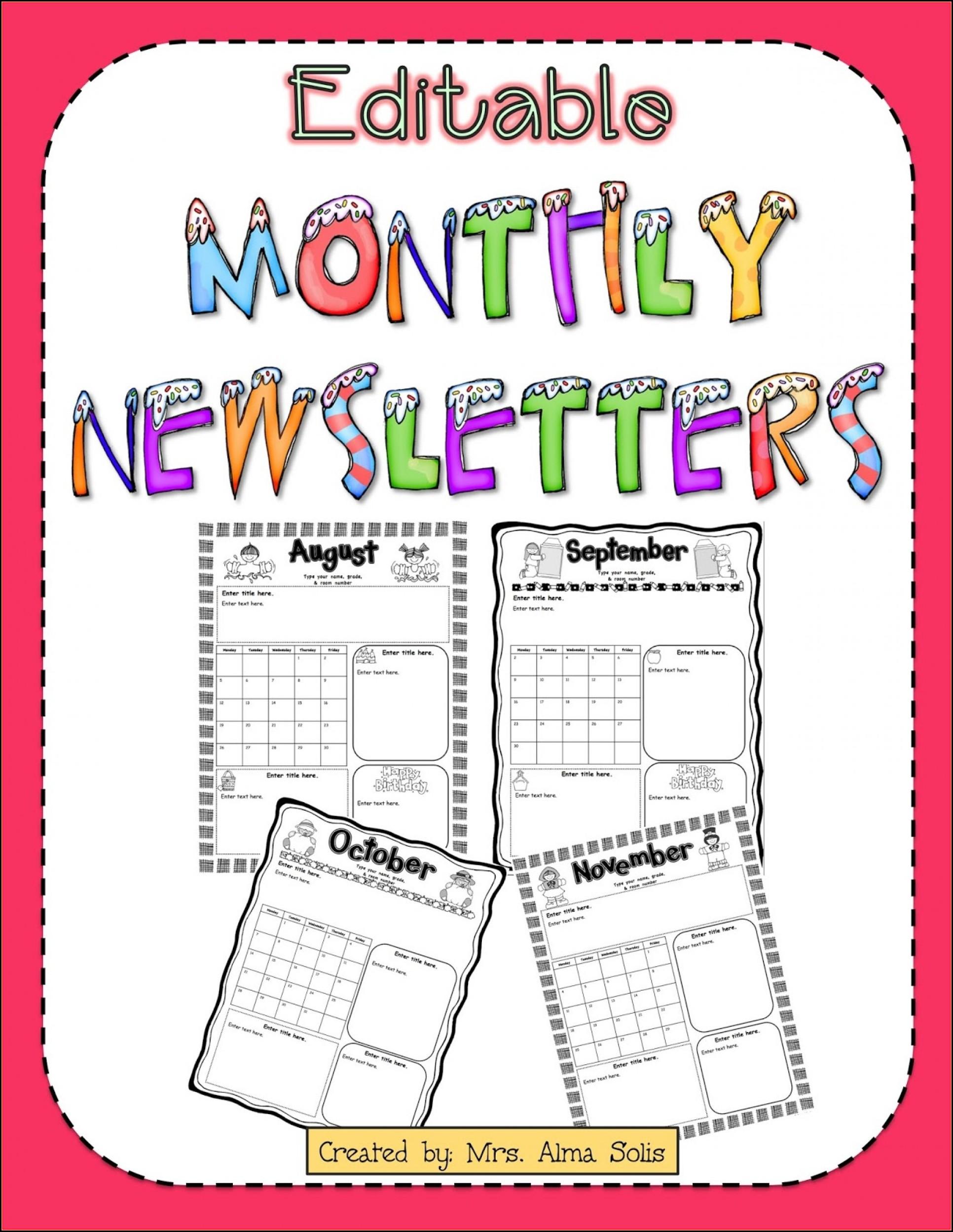 Free Editable Newsletter Templates For Preschool