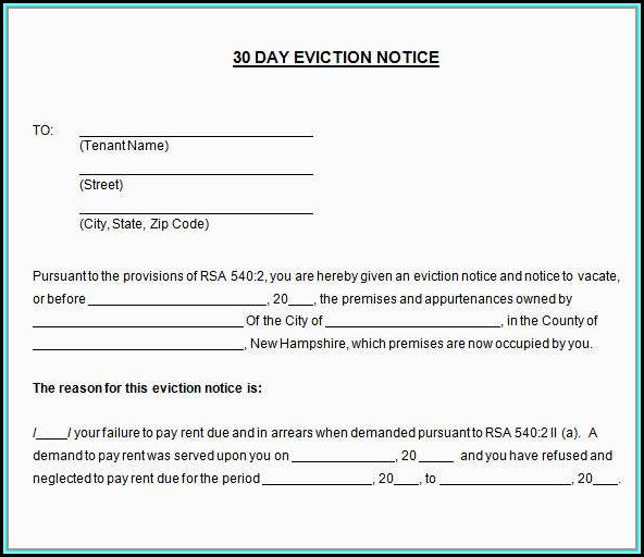 Free Eviction Notice Template California