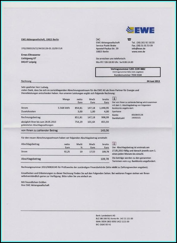 Free Fake Utility Bill Template