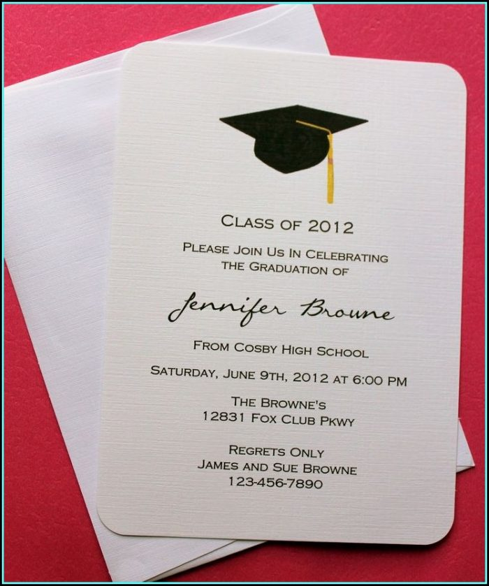 Free Graduation Invitation Cards Designs