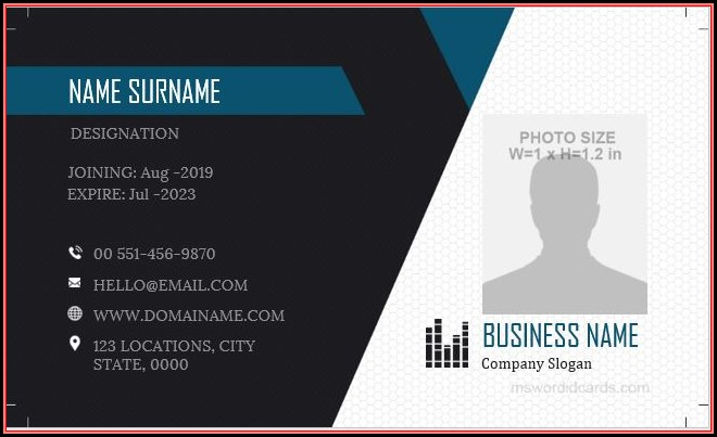 Free Id Badge Template Microsoft Word