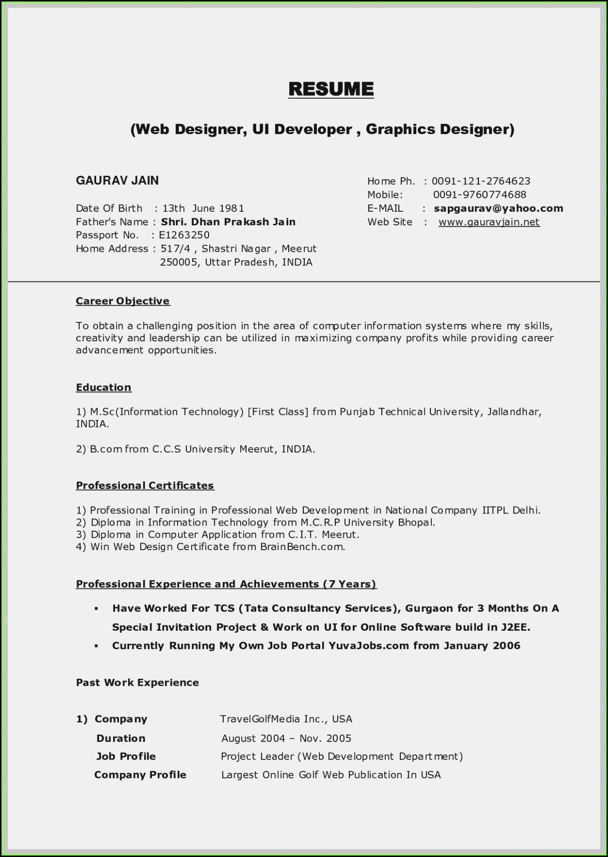 Free Online Download Resume Builder