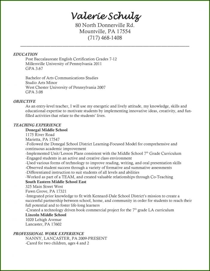 Free Online Teacher Resume Builder