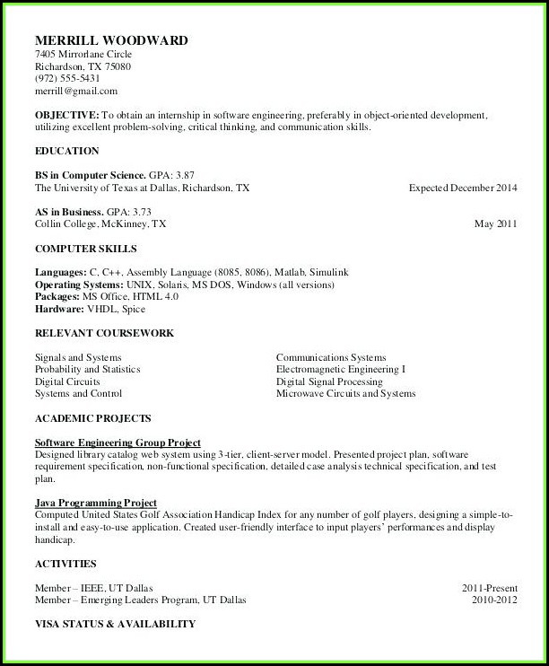 Free Printable Professional Resume Templates