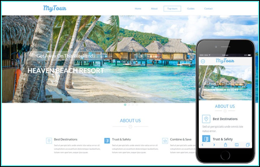 Free Responsive Tourism Website Templates
