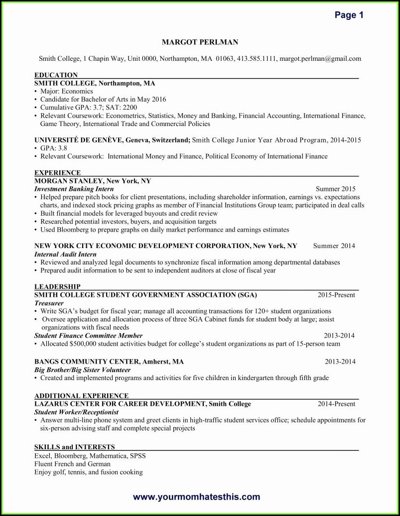 Free Resume Builder And Download Online