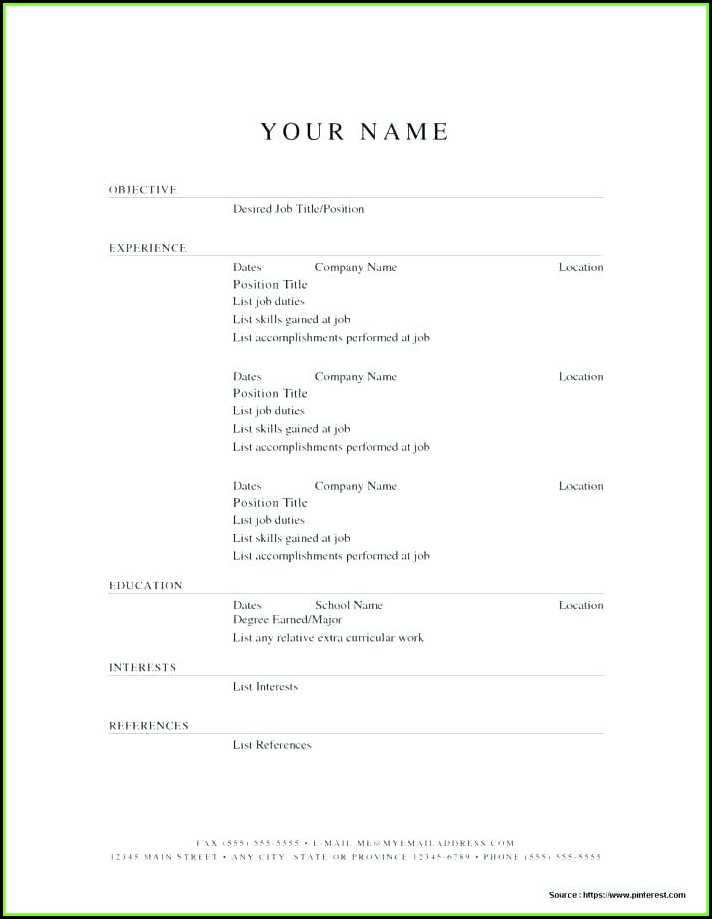 Free Resume Builder Printable Download