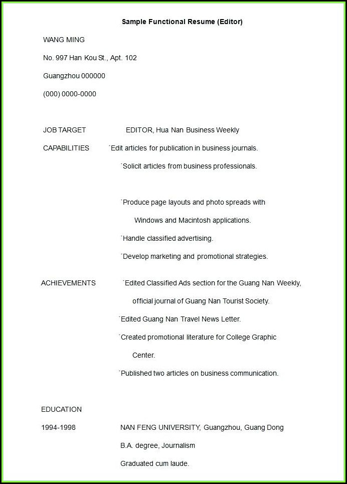 Free Resume Editor Download