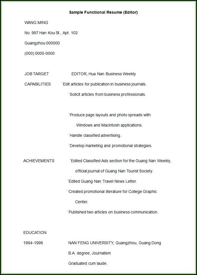 Free Resume Editor Download