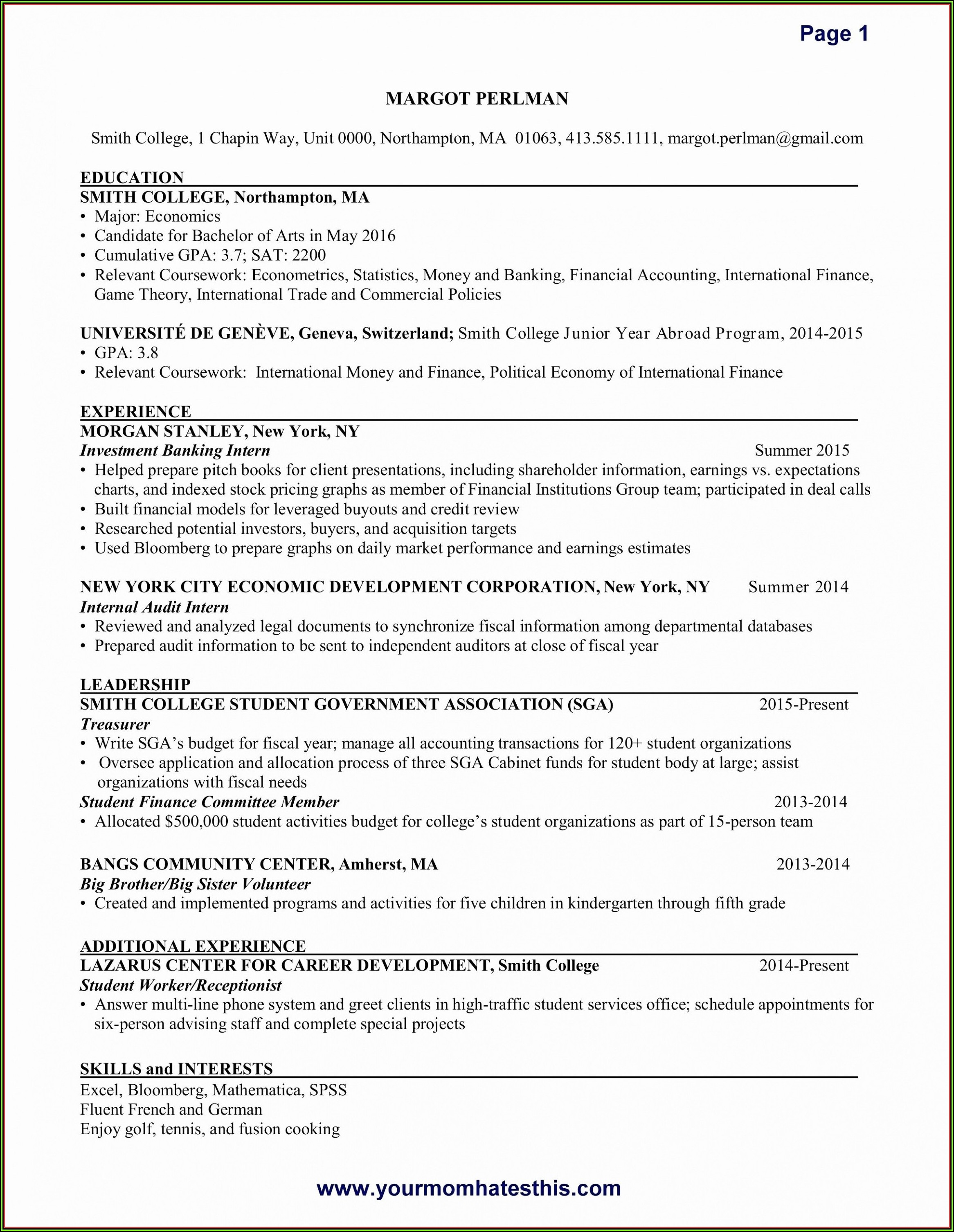 Free Resume For Domestic Helper
