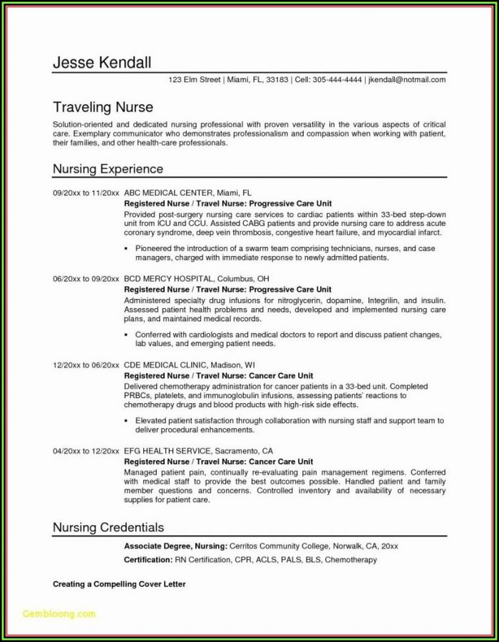 Free Resume Templates For Nurse Practitioners