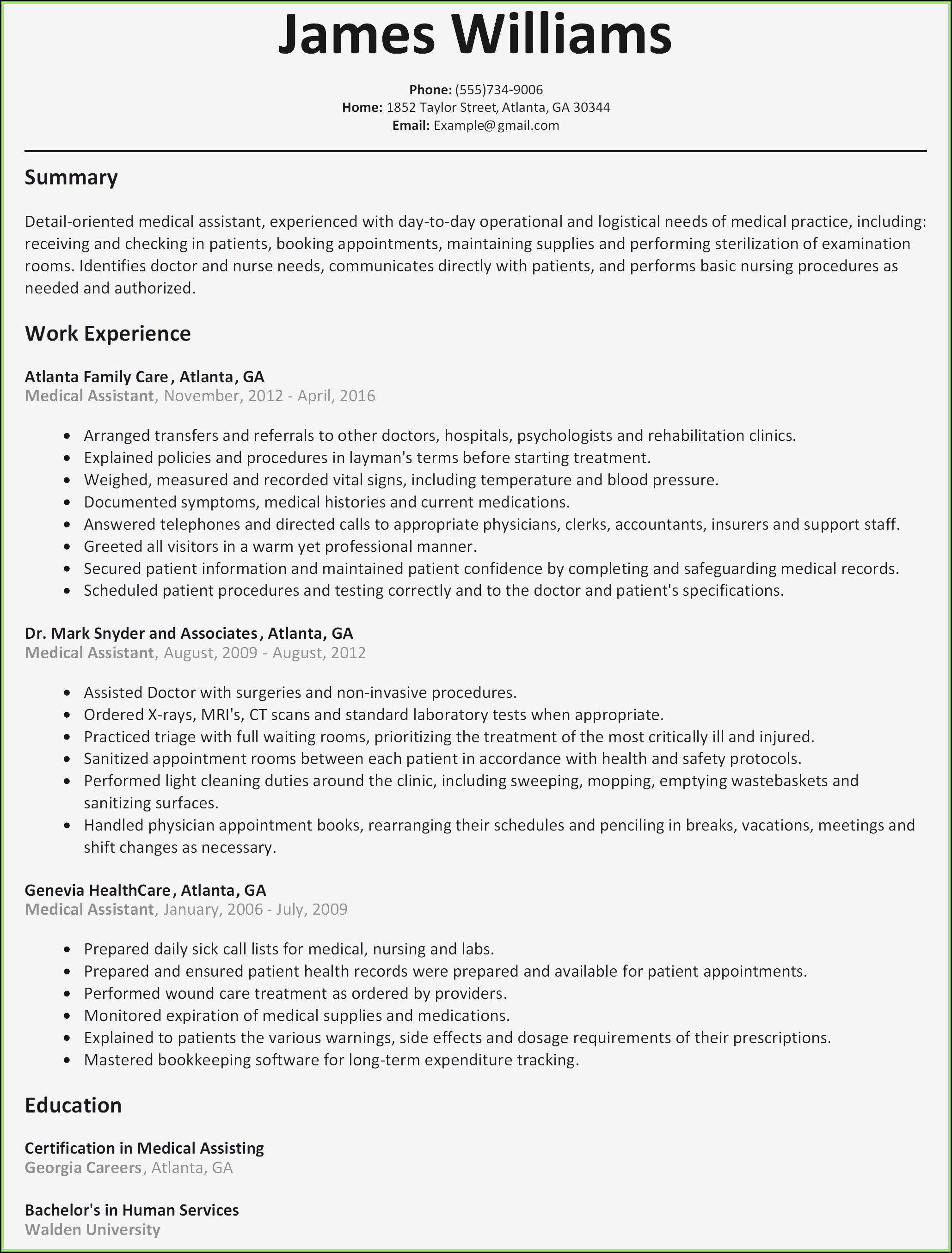 Free Resume Templates Samples Online