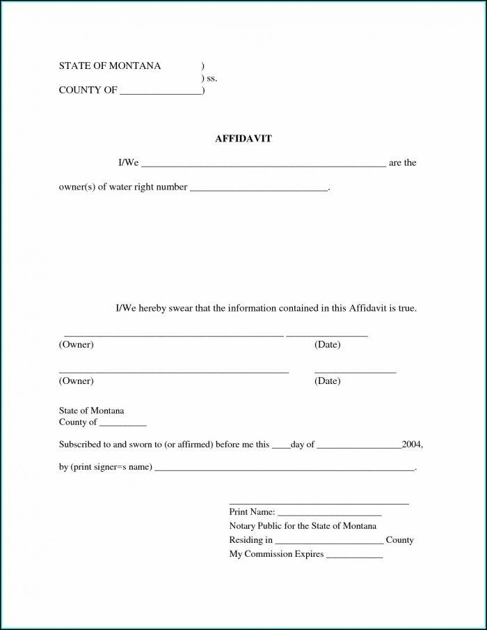 Free Sworn Affidavit Template