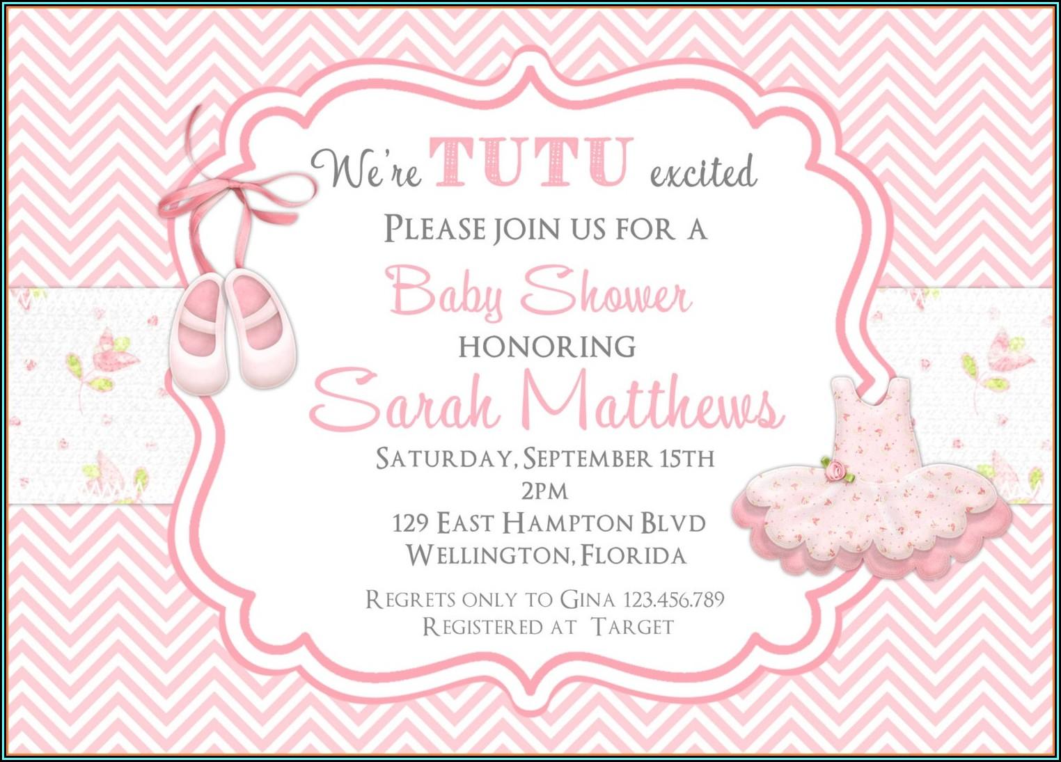 Free Tutu Invitation Template