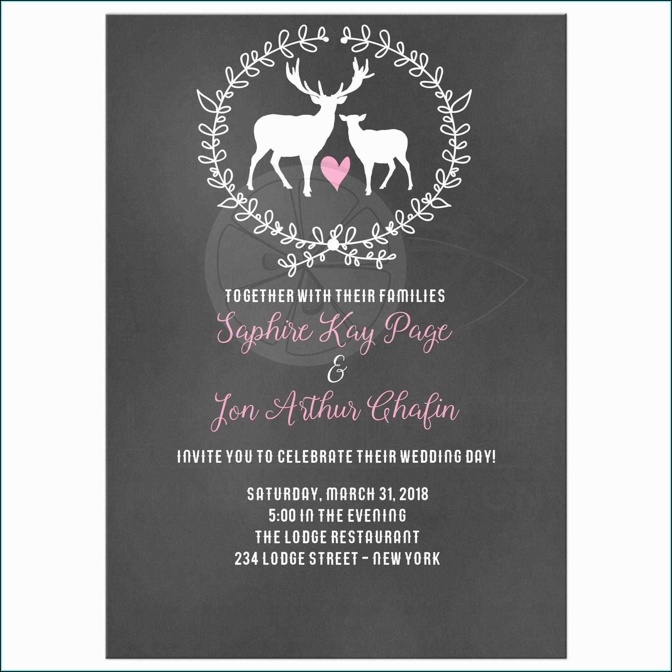 Free Wedding Evite Templates