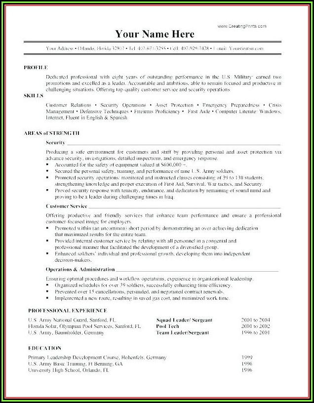 Government Resume Writing Brisbane
