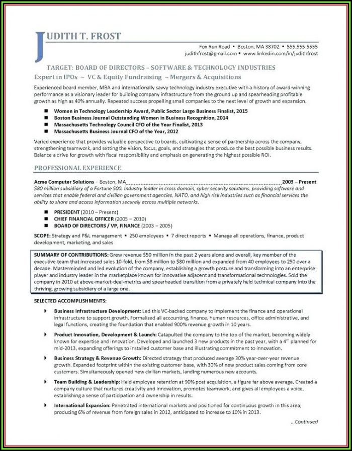 Healthcare Executive Resume Writing Service
