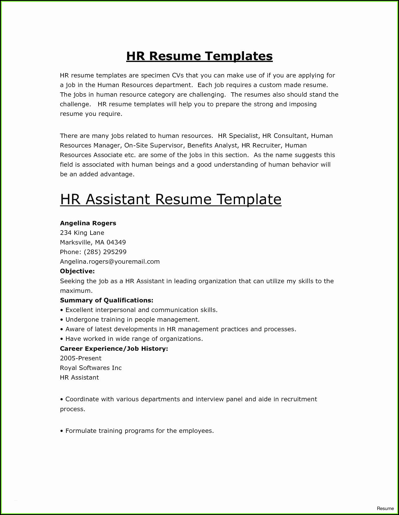 Highest Rated Resume Templates