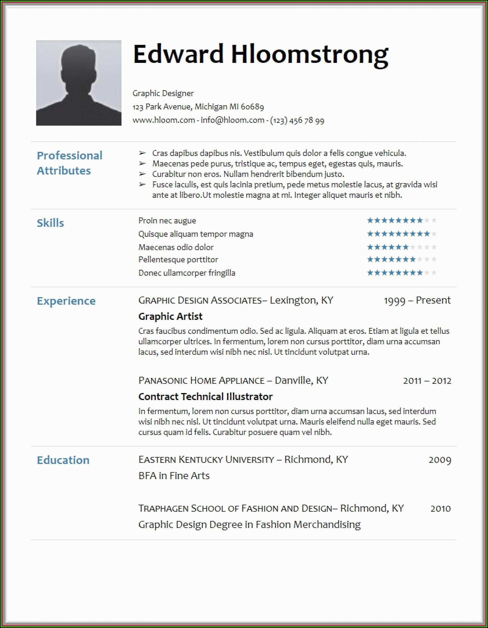 Hloom Download Professional Resume Templates