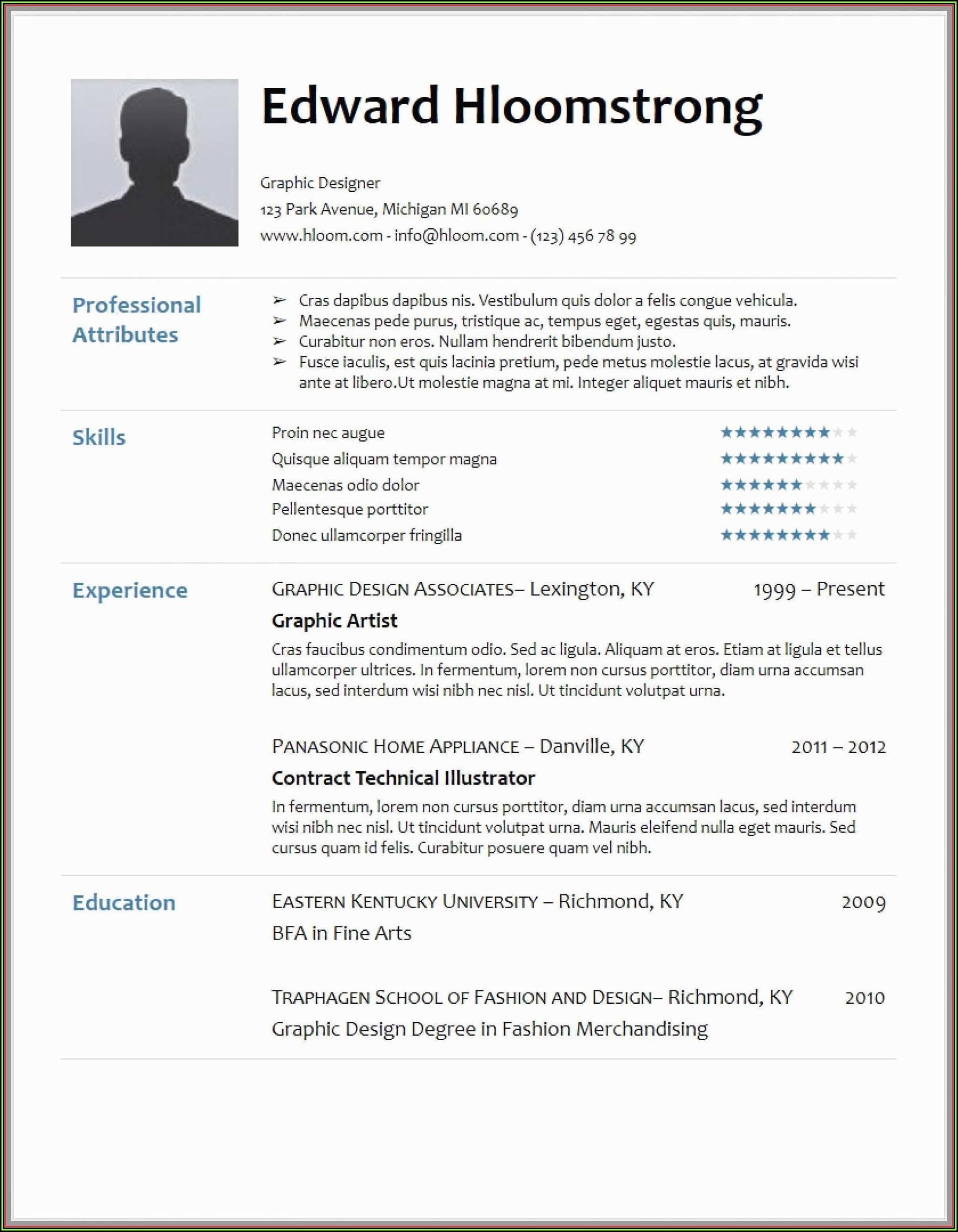 Hloom Download Professional Resume Templates
