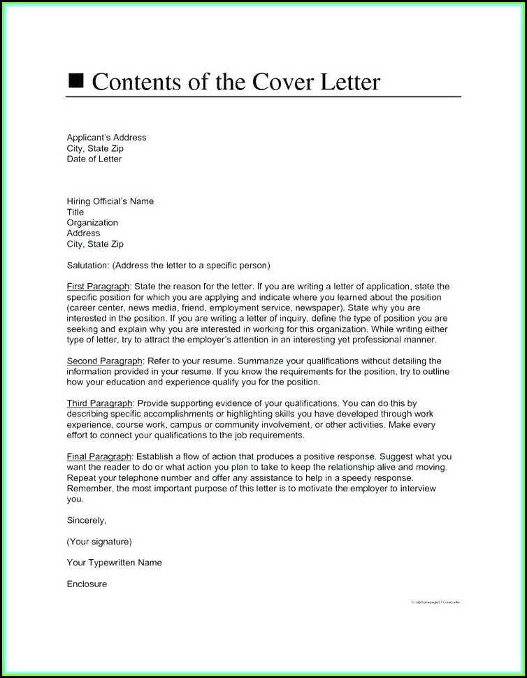 How To Make A Cover Letter For A Resume In Canada