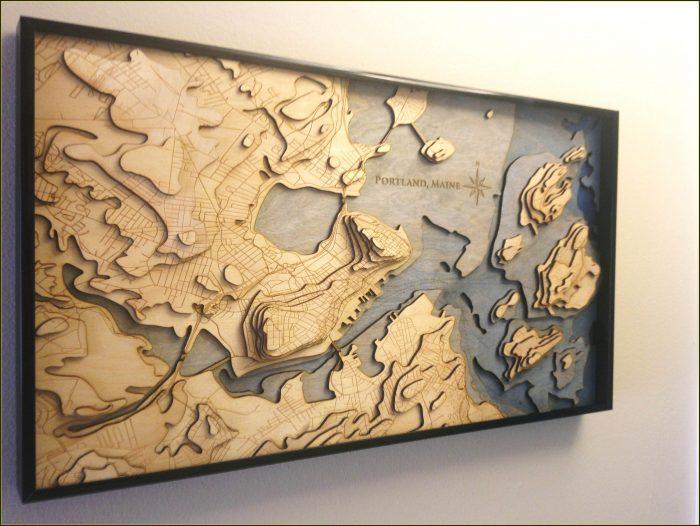 Laser Cut Topo Map